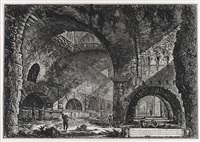 the so-called villa of maecenas at tivoli: interior by giovanni battista piranesi