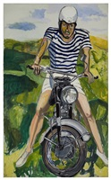 hartley on the motorcycle by alice neel