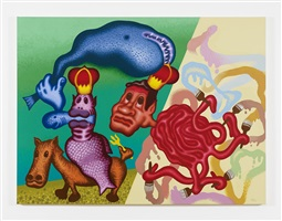 neptune and the octopus painter by peter saul
