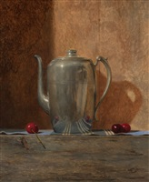 teapot with cherries by todd m. casey