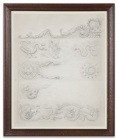 the parlor - frame study 1 - horizontal panels by mark ryden
