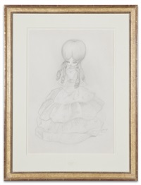 lady doll drawing by mark ryden