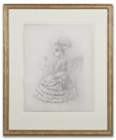 hearing girl/the parlor sketch by mark ryden