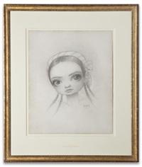 meat dancer portrait drawing by mark ryden