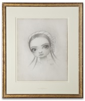meat dancer portrait drawing by mark ryden