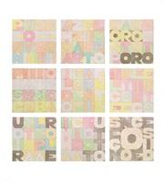 nove quadrati by alighiero boetti