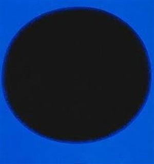 farbkomposition schwarz-blau by rupprecht geiger