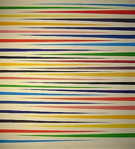 tapered stripe #12 (core belief) by mark dagley