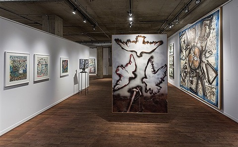 installation view: les migrations du bestiaire by jean paul riopelle