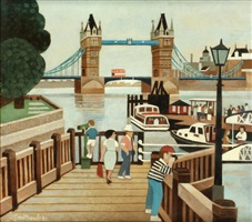 tower bridge jetty by alfred daniels