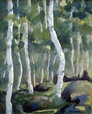 bar harbor birch trees no. 2 by gary bolyer