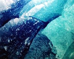 blue glacial ice, alaska by christopher burkett