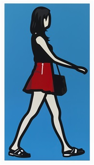 mini skirt girl 1 by julian opie