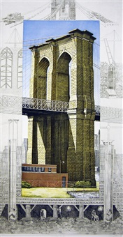 brooklyn bridge, new york city by richard haas