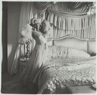 mae west in her bedroom , santa monica, california by diane arbus
