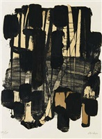 lithographie nr.11 by pierre soulages
