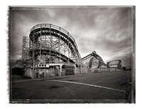 cyclone roller coaster, coney island by christopher thomas