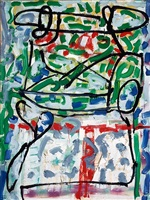 les deux renards by jean paul riopelle