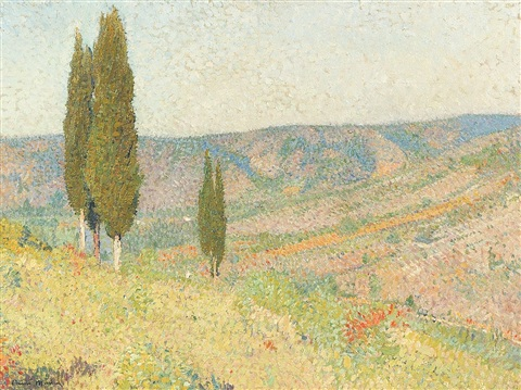 paysage provencal by henri jean guillaume martin