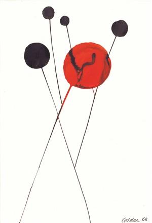 black into red by alexander calder