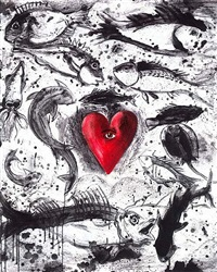 self in the ocean by jim dine