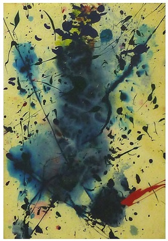 untitled (acrylic painting) by sam francis