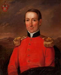portrait of captain w. von flotow by w. pein
