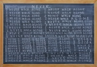 blackboard painting, footnote #4 by jumaldi alfi