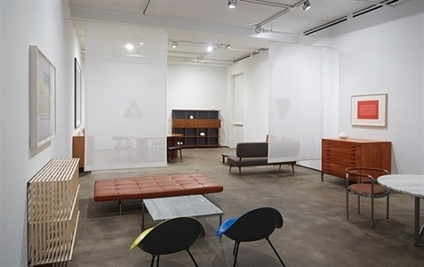 installation view of forms of attraction: kjærholm, tenreiro and selected works at sean kelly, new york