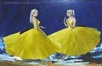 dancers in yellow by aldo affortunati
