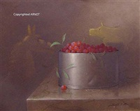 raspberries in pewter by donald f. allan