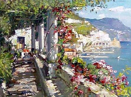 Terrazzo Fiorito Amalfi by Vincenzo Aprile on artnet