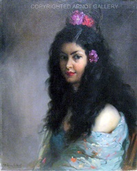 portrait of a spanish dancer by francisco rodriguez sanchez clement
