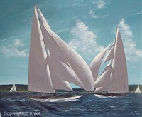 two racing j yachts by scott m. duncan