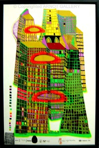 good morning city bleeding town by friedensreich hundertwasser