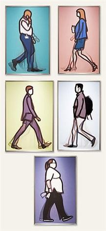detective, lawyer, banker, student, nurse by julian opie