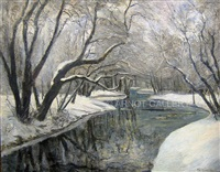 snow brook by louis aime lejeune