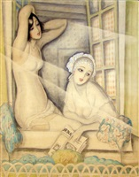 two women in a window by gerda wegener