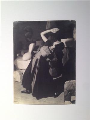 lizica codreanu dancing in brancusi's studio, costume by irina codreanu by constantin brancusi