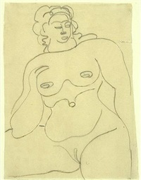 female nude by gaston lachaise