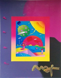 year of 2250 (overpaint) by peter max