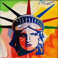 liberty head by peter max