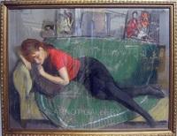 sleeping girl by ramon pichot soler