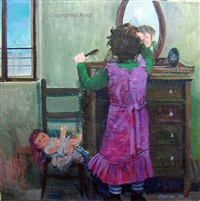 girl in the mirror by giuseppe dangelico pino