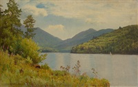 a view of whiteface mountain from lake placid by william trost richards