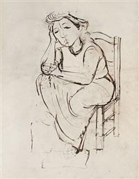 lady seated by jankel adler