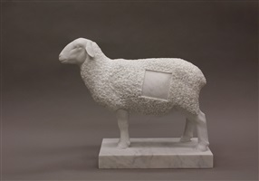 suprematist sheep (homage to malevich) by gerard mas