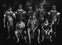 group portrait of kamayura shamans. upper xingu, mato grosso, brazil by sebastião salgado