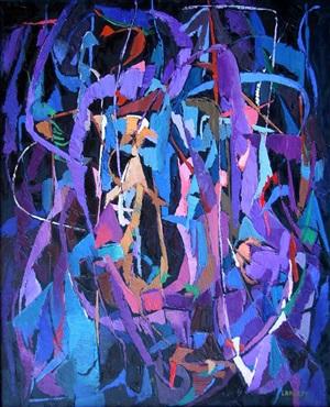 composition sur fond noir by andré lanskoy