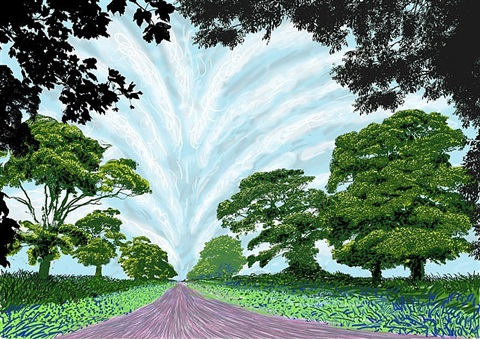 summer sky by david hockney